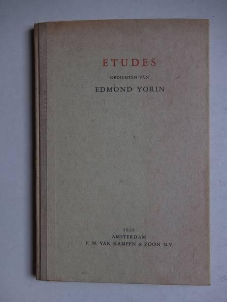 YORIN, EDMOND. - Etudes.