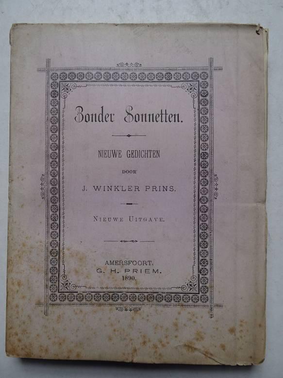 WINKLER PRINS, J.. - Zonder Sonnetten. Nieuwe Gedichten.
