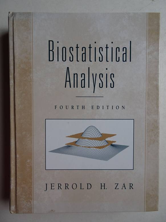 ZAR, JERROLD H.. - Biostatical analysis.