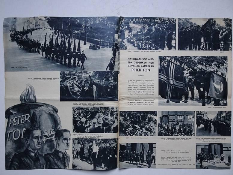 WENNIGER MULDER, C.A. (RED.). - Fotonieuws. De Spiegel der Beweging. uitgave Hoofdkwartier N.S.B., afd. III Propaganda. 1e jaargang, no. 10- sept. 1941.